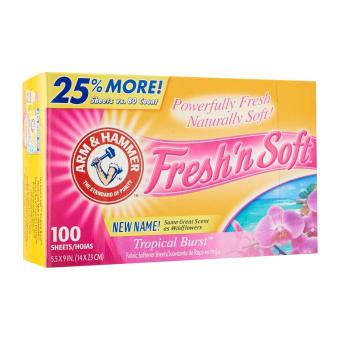 Harga Arm & Hammer Fresh 'N' Soft Tropical Burst Dryer Sheets