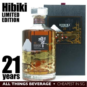 Harga Hibiki 21 Years Mount Fuji Limited Edition in Wooden Box (Cheapest in SG)
