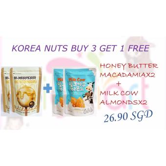 Harga COMBO PACK HONEY BUTTER MACADAMIA + MILK COW ALMONDS