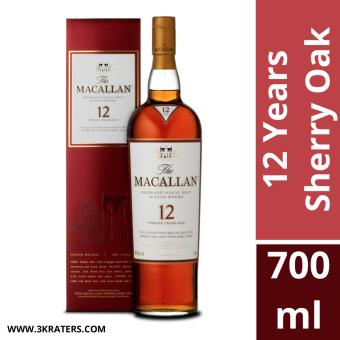 Harga The Macallan 12 Years Old Sherry Oak 700ml / Local Agent Stock