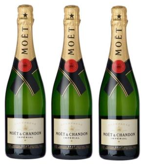 Harga Moet & Chandon Brut 750ml x3