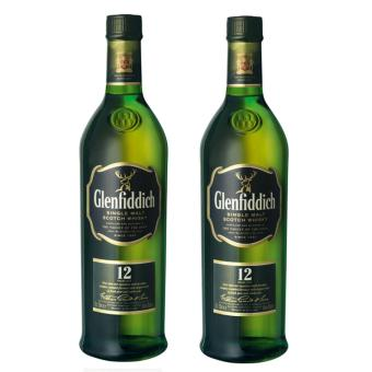 Harga Glenfiddich 12 Years Old Whiskey 700ml x2
