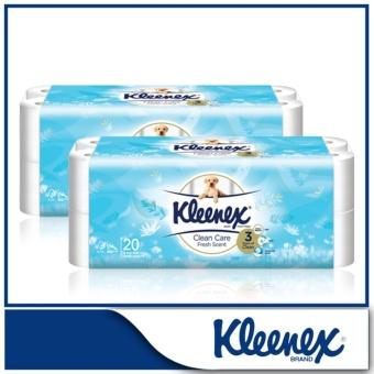 Kleenex Clean Care Bath Tissue Fresh Scent 20x200sheets x 2