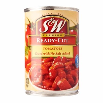 S&W No Salt Ready Cut Tomatoes 411GM