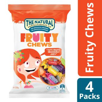 The Natural Confectionery Co. Fruity Chews, Pack of 4, 220g each