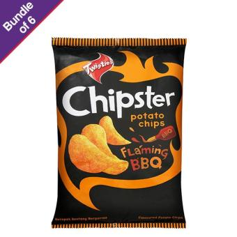 Harga Twisties Chipster Crisp Potato Chips Flaming BBQ 160g - Bundle of 6