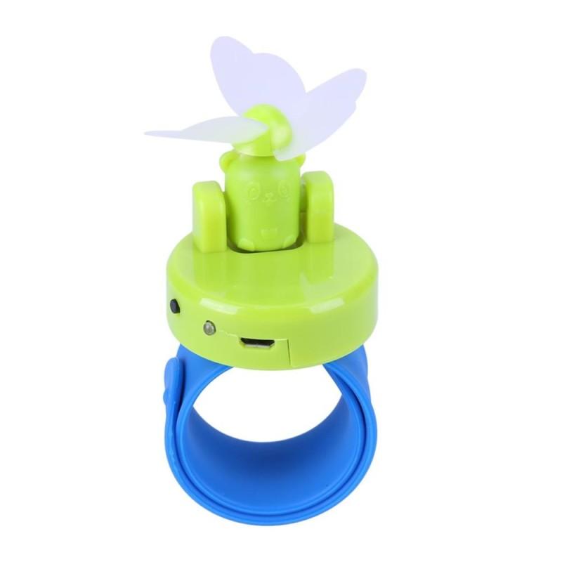 1pc 360 5V Mini Portable USB Wrist Fan Cooler Lamp(Green) - intl Singapore