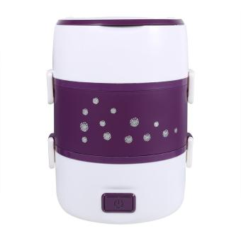 220V 3 Layers Electric Heated Lunch Box (Purple) - intl