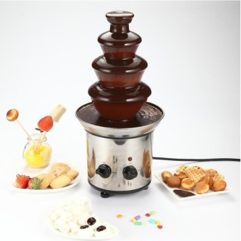 4 Layer Chocolate Fountain Fondue Wedding Children Birthday EventFestive Christmas Party Machine Chocolate Waterfall - intl