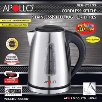 APOLLO NEK-1703SS Cordless Electric Kettle 1.7L