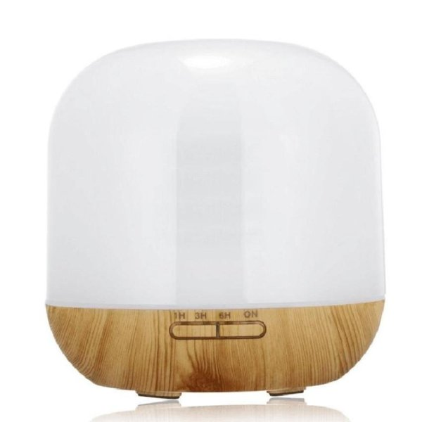 Aroma Diffuser Essential Oil Wood Grain Air Purifier 300ml Electric Humidifier   - intl Singapore