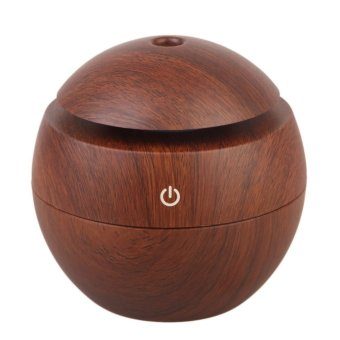 Aroma Essential Oil Diffuser Ultrasonic Humidifier Light Wooden (Dark Brown)
