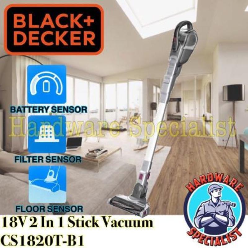 Black & Decker SMARTECH 18V Cordless 2 In 1 Floor Extension Stick Vacuum Singapore