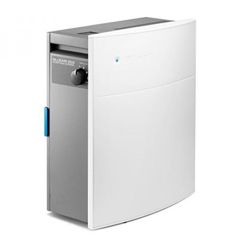 Blueair Classic 203 Slim HepaSilent Air-Purification System, Allergy and Dust Reducer, Small Rooms 237 sq. ft., White - intl Singapore