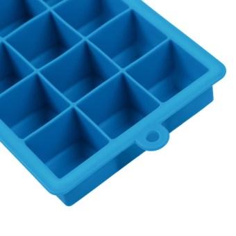 Creative DIY Big Silicone Ice Tray Mold Square Shape Sky Blue - 5