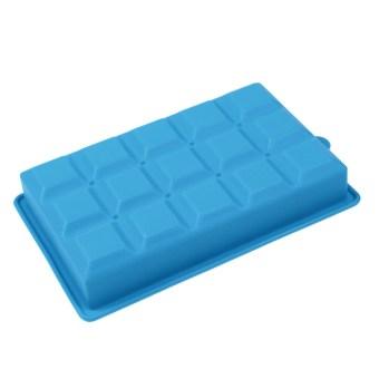 Creative DIY Big Silicone Ice Tray Mold Square Shape Sky Blue - 4