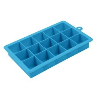 Creative DIY Big Silicone Ice Tray Mold Square Shape Sky Blue - 3