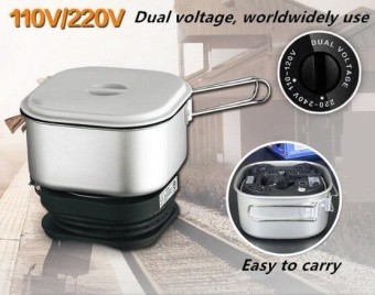 Dual Voltage Wordwidely Use Travel Cooker Portable Mini ElectricRice Cooking Machine Hotel Student Room cooker - intl