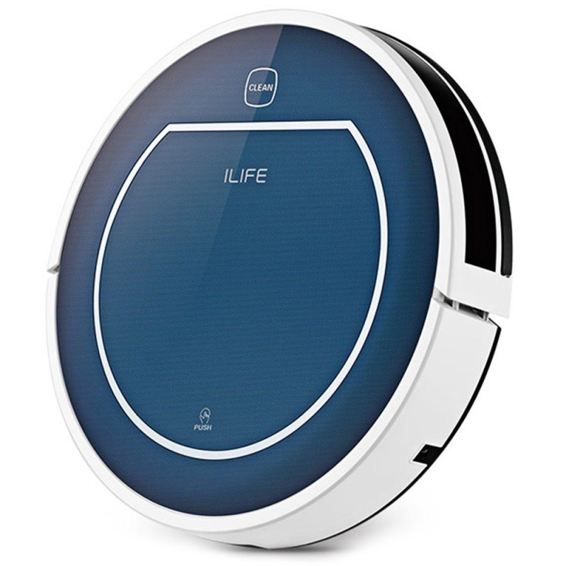 ILIFE V7 Smart Mute Sweeping Robot Automatic Rechargeable Vacuum Cleaner Remote Controlled Dust Cleaning - intl Singapore