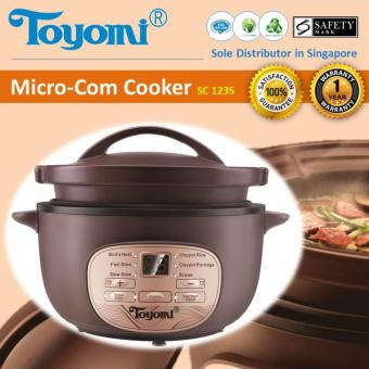 Harga Toyomi SC 1235 Micro-Com High Heat Stew Cooker(Chocolate)