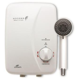 Harga Champs Accord Instant Heater With Shower Set (White)