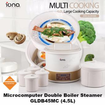 Harga Iona 4.5L Microcomputer Double Boiler And Steamer - GLDB45MC (1 Year Warranty)