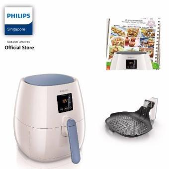 Harga FREE GRILL PAN , BAKING TRAY AND RECIPE BOOK WITH Philips Viva Collection Air Fryer (White) - HD9238/41 (While stocks last)