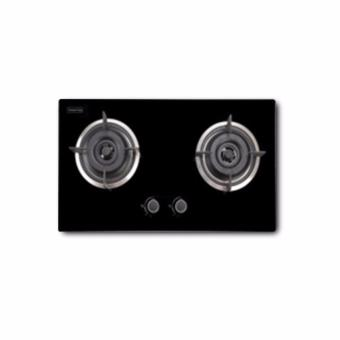Harga Valenti 73cm 2Burner Glass Gas Hob VC720G (1yr warranty)