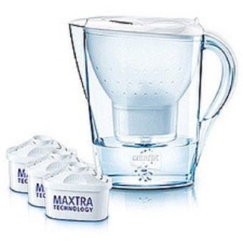 Harga Brita New Marella 2.4L Cool White Jug with 3 Maxtra Water Filters