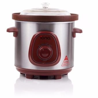 Harga Iona GLSC350 Auto Slow Cooker 3.5l (Brown)
