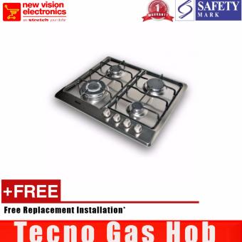Harga Tecno TZ4000SV (LPG) 60cm Cooking Hob with Safety Valve TZ4000SV