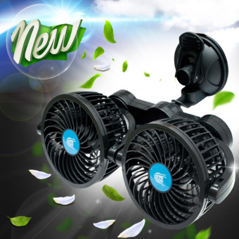 Harga Daeil Korea 24V Absorbing Rolling Twin Car Fan (Black) - intl