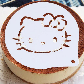 Harga Kitty cat cake with powdered sugar sieve baking tools mould doraemon Kt printing mold mold 6 inch 8 inch