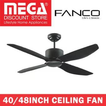 Harga Fanco Icon 40/48Inch Ceiling Fan With Remote / Optional Light Kit 48INCH Without Light M-BK