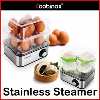Harga Coobinox Germany CX-05EB 2-Layer Stainless Steel Multi Food Steamer - intl
