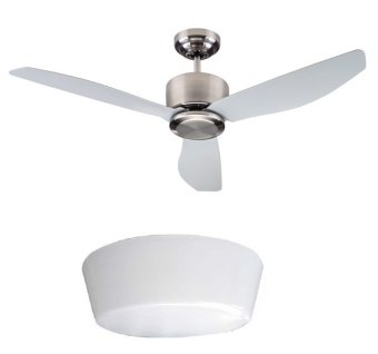 Harga Fanco Icon Ceiling Fan 48inch (Matte Silver) with LED Light