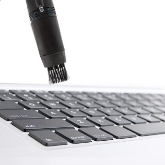 Mini Notebook Computer Vacuum Keyboard Cleaner For PC Laptop Black - intl