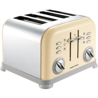 Harga Morphy Richards Accents Four Slice Toaster - Cream
