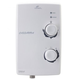 Harga Champs Cassanova T3000 Instant Heater With Shower Set (White)