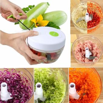 Harga ABS Manual Multifunction Home Kitchen Meat Grinders Vegetable Chopper Salad Ice Crusher Blender For Cutting Meat Vegetable - intl