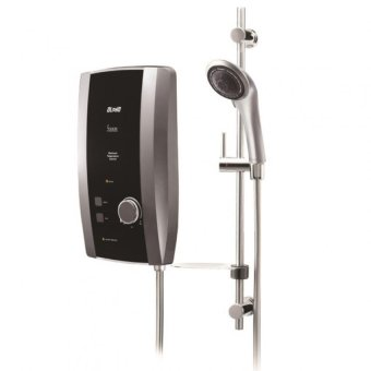 Harga Alpha S100 Instant Heater With Shower Set (METALLIC SILVER)