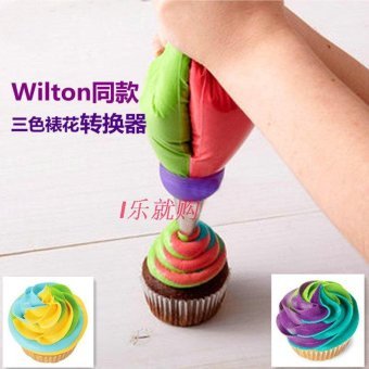 Harga Explosion models tricolor three holes fondant cupcake decorating mouth converter decorating tools