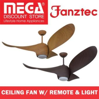 "Fanztec Ft-Twg-2 52"" Dc Motor Ceiling Fan with Remote and Light"