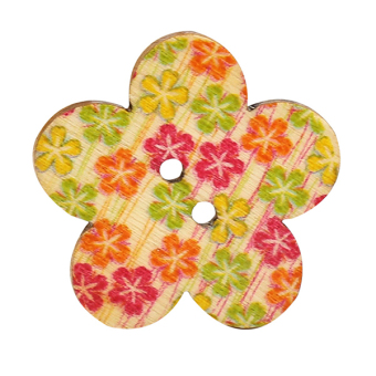 Harga Bluelans 2 Holes Wooden Flower Scrapbook Sewing Buttons 50Pcs