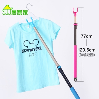 Harga Retractable clothesline pole support Clothes Rod home Clothes Rod fork head clothesline laundry fork to take pick Clothes Rod drying clothes rod laundry clothes stick Clothing fork Rod