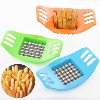 Potato Cutter Slicer Chopper Kitchen Cooking Tools gadgets Stainless Steel Fries Random - intl