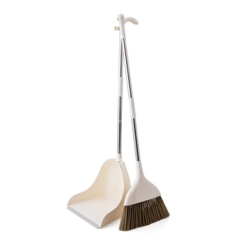 Harga Home home plastic broom home floor broom combination of sweeping Sweep hair the soft bristle broom large dustpan suit