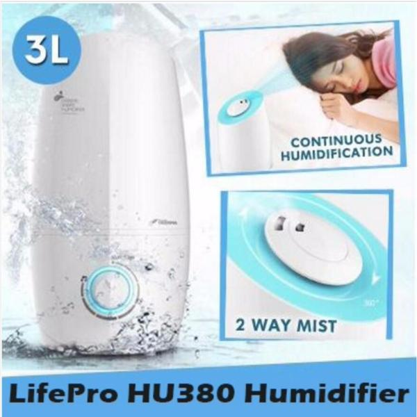 Lifepro HU380 3L Humidifier With Aroma Function/Free Ag+ box/ Singapore safety mark plug/ English Manual Singapore