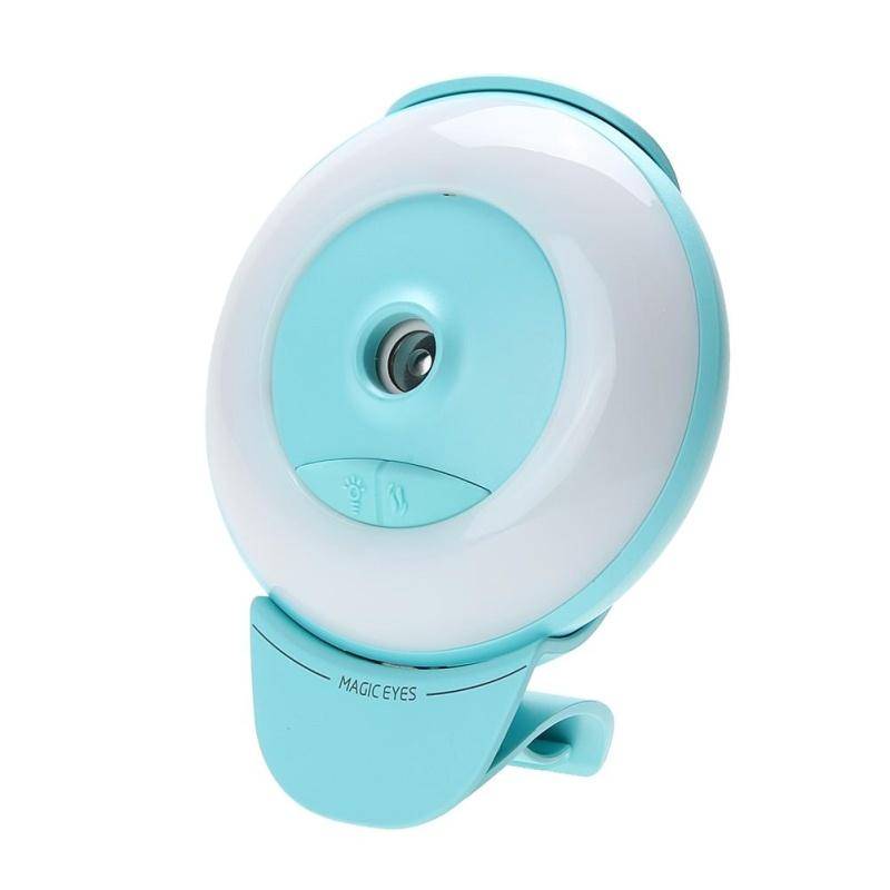 Mini Luminous Humidifier USB Nano Mister Facial Moisturizing Spray (Aqua) - intl Singapore