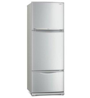 mitsubishi 3 door refrigerator 430l mr v45eg sl p silver